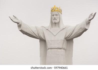 SWIEBODZIN, POLAND - 10 APRIL, 2017: Jesus Christ the King Monument.