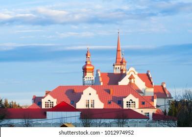 Swiebodzin, Poland, December 2017 Divine Mercy Catholic church  in Swiebodzin