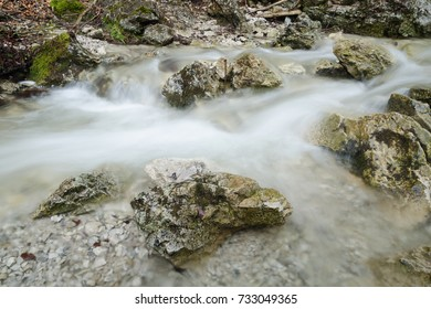Swift creek with motion-blurred water flow, Mala Fatra NP, Slovakia