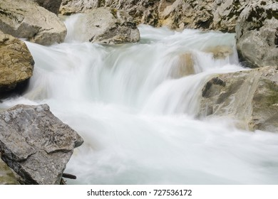 Swift creen with small waterfall in rocky canyon, Mala Fatra NP, Slovakia