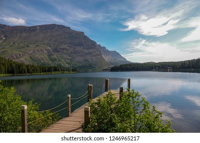 Swiftcurrent Lake from Dock
