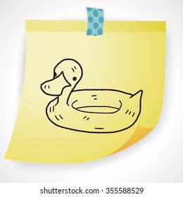 swim ring doodle