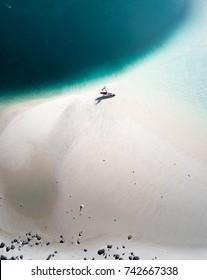 Swimmer enjoying the beach and the ocean