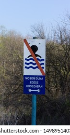 swimming along the Moson Danube is prohibited