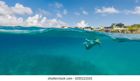 Swimming with fish and turtles    Views around the small Caribbean island of Curacao