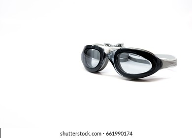 Swimming glasses isolated background