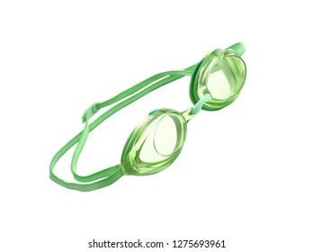 Swimming glasses isolated on a white background