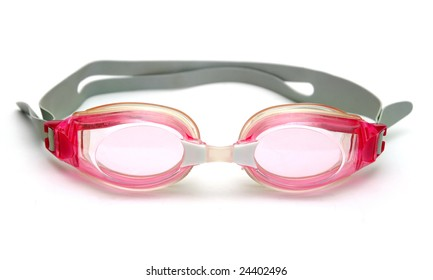 Swimming glasses isolated on white.