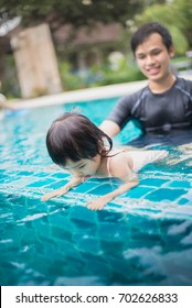 swimming and happy family time