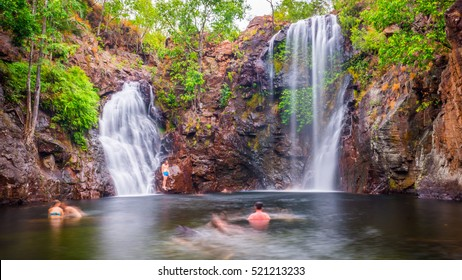 The swimming holes at Florence Falls are among the most visited tourist attractions of Litchfield National Park in Australia's Northern Territory.