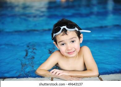 swimming kid