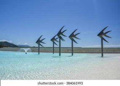 Swimming lagoon in Cairns, Queensland, Australia