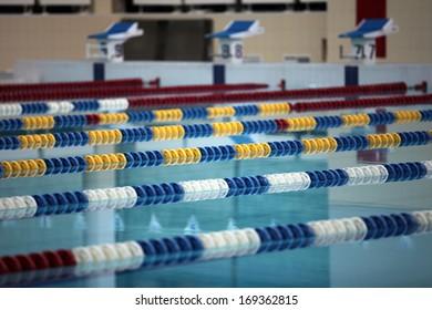 Swimming Lane Marker  in Swimming Pool  close to