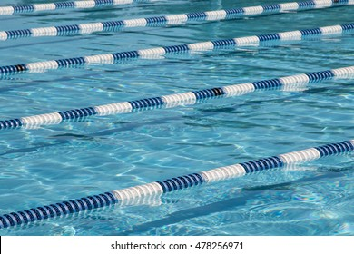 Swimming lanes in a pool.