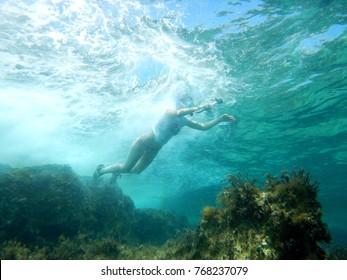 Swimming in Mediterranean Sea