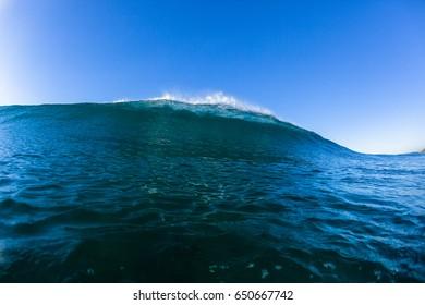 Swimming Ocean Wave Swimming ocean blue wave closeup horizon landscape