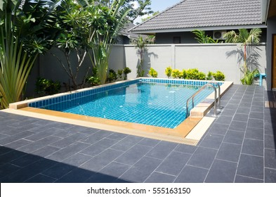 Swimming pool beautiful in tropical resort