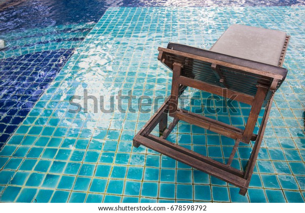 Swimming Pool Bed Sun Deck Umbrella Stock Photo (Edit Now ...