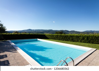 Swimming Pool with a blue sky