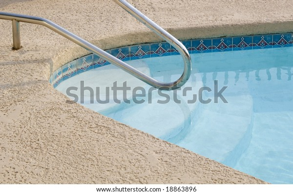 Swimming Pool Cement Deck Stock Photo (Edit Now) 18863896