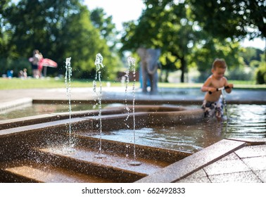Swimming Pool For Children With Playground and fountains. Water Parks, Playgrounds & Aquatic Centres