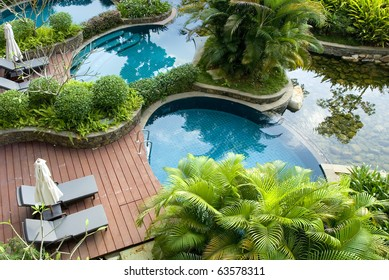 Swimming pool, fresh and cool world Spring,recuperate, fitness