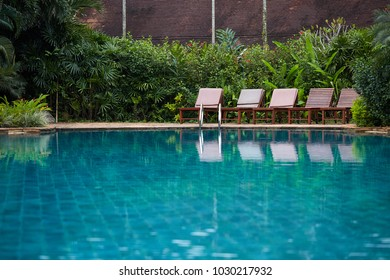 Swimming pool, in the garden