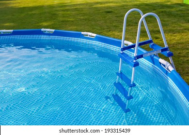 Swimming pool in garden