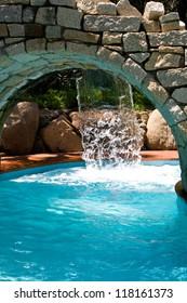 Swimming pool in the hotel on Sardinia