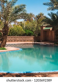 Swimming Pool of a hotel in the Sahara Desert in Morocco