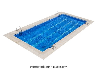 Swimming pool isolated over white