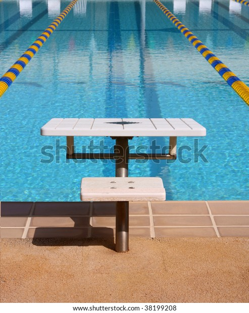 Swimming Pool Jumping Board Lane Stock Photo (Edit Now) 38199208