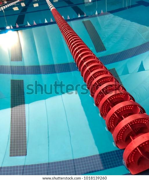 Swimming Pool Lane Lines Stock Photo (Edit Now) 1018139260
