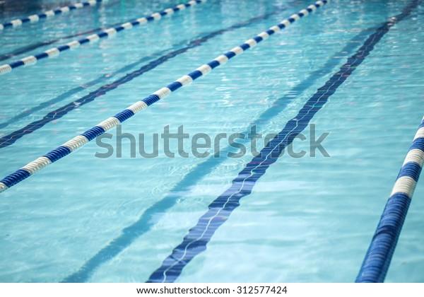 Swimming Pool Lane Lines Stock Photo (Edit Now) 312577424