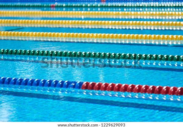 Swimming Pool Lane Lines Swimming Pool Stock Photo (Edit Now ...