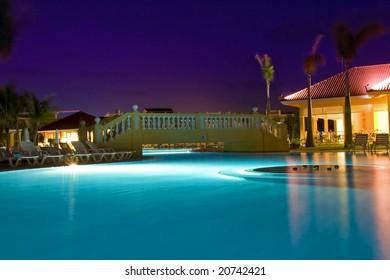 swimming pool & luxury hotel
