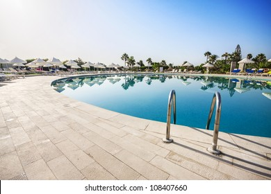 Swimming pool of luxury hotel, Tunisia.