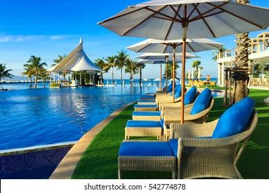 swimming pool near beach,Pattya Thailand