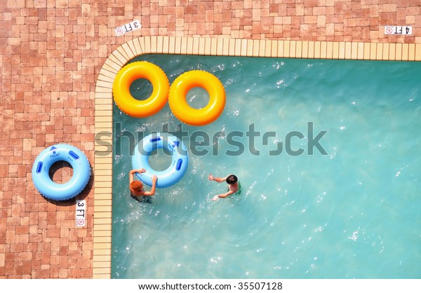 Swimming Pool Pool Rings Pool Floats Stock Photo (Edit Now ...