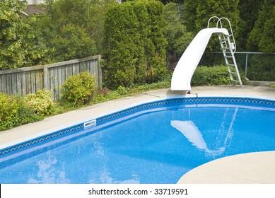 Backyard Pool Slide Images Stock Photos Vectors Shutterstock