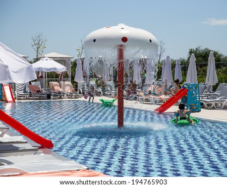 Swimming Pool Slides Little Kids Stock Photo (Edit Now) 194765903 ...