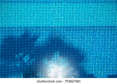 swimming pool top view surface background shadow tree daylight