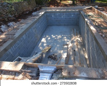 A Swimming Pool under construction