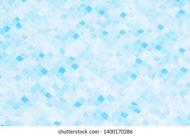 swimming pool unfocused abstract bottom blue and aquamarine vivid colors pattern, background wallpaper water concept picture
