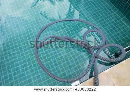 Swimming Pool Vacuum Hose After Pool Stock Photo (Edit Now ...