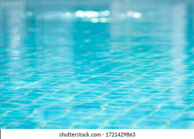 swimming pool water with bokeh background.