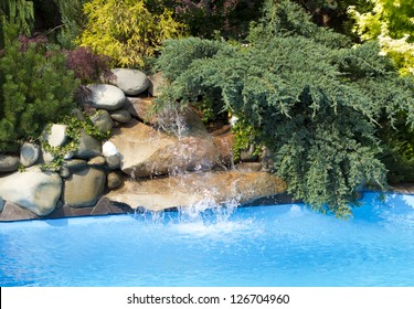 Swimming Pool Waterfall Hd Stock Images Shutterstock