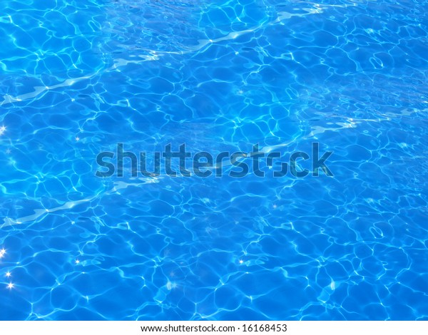 Swimming pool water reflections.