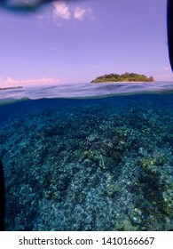 Swimming and snorkelling in Rabaul at the islands in crystal clear water or Papua New Guinea