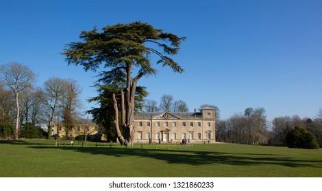 SWINDON, UK - FEBRUARY 12, 2019: Lydiard House, Lydiard Park  Swindon, Wiltshire, UK